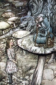 Alice in Wonderland 2 ~ Arthur Rackham ~ Counted Cross Stitch Pattern Chart #StoneyKnobFarmHeirlooms #CountedCrossStitchPatternChart