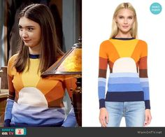 Riley's sun sweater on Girl Meets World.  Outfit Details: https://wornontv.net/58945/ #GirlMeetsWorld  Buy it here: http://wornon.tv/37287