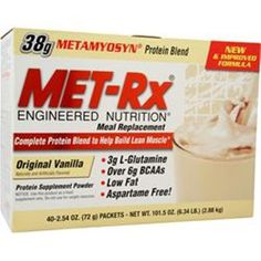 You get better quality Supplements for you money!  Buy 1-2 MET-RX Meal Replacement Drink Mix 40 packs Better Quality SaveUmore #METRX