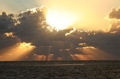 Sonnenuntergang, Sonnenstrahlen