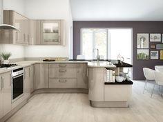 Minimalist Kitchen Design #glossykitchenideas #whitekitchencabinets