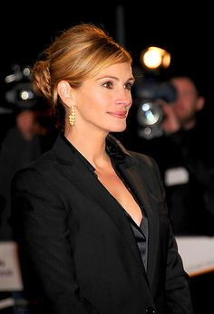 A classic chignon like Julia Roberts' has a timeless elegance that never looks out of style.