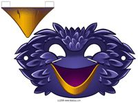 masque de corbeau Mascaras Halloween, Photo Props, Bowser, Decoupage, Lion Sculpture, Birds, Statue, Character, Art