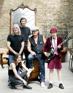 AC/DC, including guitarist Angus Young (right)