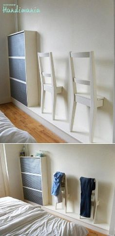 Best of recycling - 75 upcycling ideas that will inspire you - Page 4 of 4 - Decorative milk- Best of Wiederverwertung – 75 Upcycling Ideen die Dich begeistern werden – Seite 4 von 4 – Dekomilch Honestly, who doesn& want … - Diy Furniture, Furniture Design, Bedroom Furniture, Diy Casa, Wall Decor, Room Decor, Ikea Hackers, Bedroom Chair, Ikea Bedroom