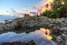 Tide pool in Drake Bay Costa Rica [OC] [1280x854]   landscape Nature Photos