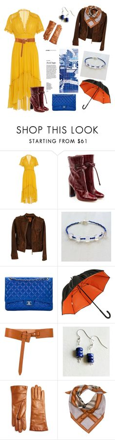 Yellow Dress Womens Autumn Outfit Idea Lapis Lazuli Earrings Bracelet Ulla Johnson, Tory Burch, Malone Souliers, Chanel, Lazuli, Jean-Paul Gaultier, Saks Fifth Avenue Collection, Burberry and rag & bone
