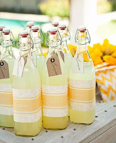 Incorporate some pastels with delish beverage/escort/favors. I just love these to reuse for chic water dispensing. #weddings