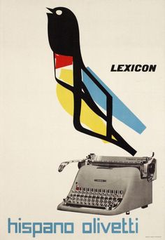 The Olivetti Hispano. Poster by Marcello Nizzoli (1950)