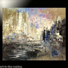 Abstract Painting Original Modern Large Urban Texture Canvas Tatiana Decor Art   eBay