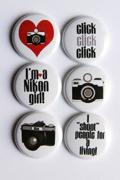 """No nikon girl, but I totally want the one that says """"I shoot people for a living"""""""