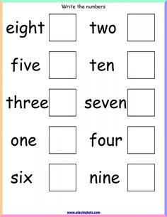 Number Word Worksheets for Kindergarten English Worksheets For Kindergarten, Kindergarten Math Worksheets, Phonics Worksheets, Grade 1 Worksheets, Money Worksheets, Budgeting Worksheets, Kindergarten Writing, Learning English For Kids, English Lessons For Kids