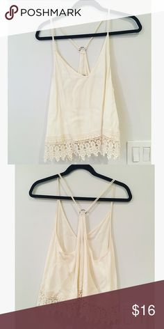 Urban Outfitters Top Ecote brand. Off white color. Hardly worn. Ecote Tops Tank Tops