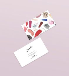 Makeup artist golden confetti cinnamon red lips business card reheart Images