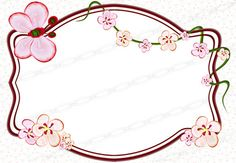 Cherry Blossom Vector, Cherry Blossoms, Vector Clipart, Banner Vector, Wall Logo, Scrapbook Borders, Frame Template, Borders And Frames, Floral Wall Art