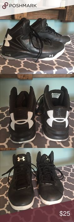 Women's Under Armour Micro G Basketball  Shoes Women's  Under Armour basketball shoes as pictured. They are in very gently used condition. Worn only indoors in the gym and locker room for about half a season due to injury. Size 11 Under Armour Shoes Athletic Shoes