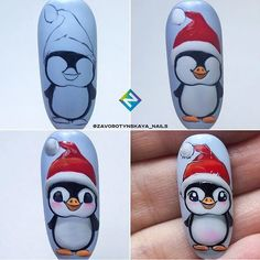 It is simple to tempo ahead using a nail art when you use your capabilities and Believe creatively. Nail Art Noel, Christmas Gel Nails, Rose Nail Art, Winter Nail Art, Christmas Nail Designs, Christmas Nail Art, Holiday Nails, Winter Nails, Animal Nail Designs