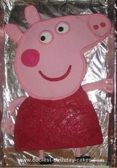 Pinner Said: Homemade Peppa Pig Cake: After seeing another Coolest Peppa Pig cake on this website I had a go myself for our daughter's third birthday party. I started with two large round butter Peppa Pig Birthday Cake, Cool Birthday Cakes, 4th Birthday, Birthday Parties, Birthday Ideas, Pig Cupcakes, Pig Party, Website, Desserts