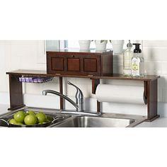 alcove Over-the-Sink Organizer Shelf - Espresso