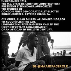 R.I.P. Patrice Lumumba. Another politically covered-up murder of a black leader exposed much too late.