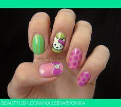 Hello Kitty Nails   Veronika S.'s (nailsbyarvonka) Photo   Beautylish