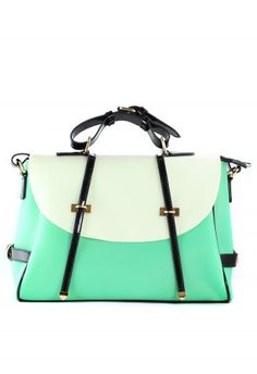 mint colored fold over bag