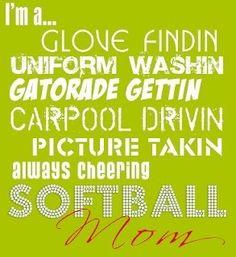 Softball Mom! softball