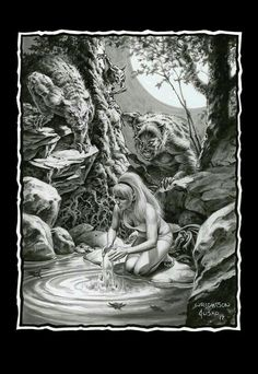 Bernie Wrightson and Joe Jusko Bd Comics, Horror Comics, Horror Art, Arte Black, Bernie Wrightson, Werewolf Art, Horror Monsters, Geniale Tattoos, Beautiful Fantasy Art