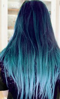 paper faces: Mavi Saç Trendi