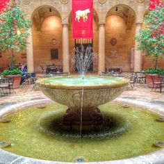 Oldest fountain in KCMO. located at the Nelson Atkins Museum of Art in the Rozzelle Court Restaurant.