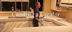 concrete counters and how to paint like granite