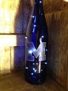 University of Michigan Lighted & Etched by Ellymayfly4Wildlife