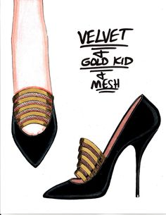 Fashion Art, Fashion Shoes, Fashion Outfits, Shoe Poster, Shoe Sketches, Fashion Design Sketches, Shoe Collection, Designs To Draw, Designer Shoes