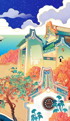 Chinese Artwork, Chinese Drawings, Chinese Background, Game Concept Art, China Art, Illustrations And Posters, Japanese Art, Painting Inspiration, Graphic Illustration