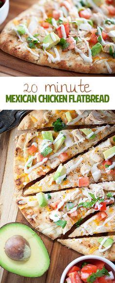 Mexican Chicken Flatbread