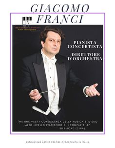 Maestro Pianist Giacomo Franci is the Artistic Director and the Conductor of The New York Chamber Players,