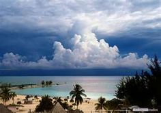Awesome clouds in Freeport, Bahamas