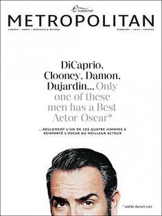 Fun new cover Metropolitan magazine Art Director Chris Deacon Jean Dujardin, Typo Design, Design Poster, Design Design, Design Editorial, Editorial Layout, Print Magazine, Magazine Design, Book Cover Design