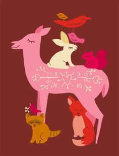 Deer and Friends illustration from This Paper Shop