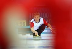 Jeff Isaacson of USA in action during the Curling Round Robin match between USA and Great Britain (c) Getty Images