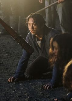 Glenn Rhee & Negan in The Walking Dead 7.01: 'The Day Will Come When You Won't Be'