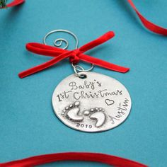 New Baby's First Christmas ornament just listed in my #etsy shop!