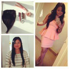 "#Hair #Model: Kristine - wearing 22"" virgin Indian #Straight #clipins"