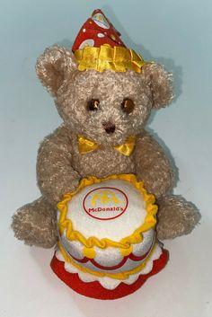 "Build A Bear McDonalds Bear With Birthday Cake 5.5"" #BuildABearWorkshop #Birthday Friend Outfits, Build A Bear, Mcdonalds, Vintage Dolls, Doll Toys, My Childhood, The Past, Workshop, Barbie"