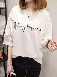 韓国風ゆっとり簡約ファッション合わせやすいカジュアル半袖Tシャツ