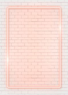 Rectangle orange neon frame on an orange brick wall vector premium image by manotang Framed Wallpaper, Pink Wallpaper Iphone, Iphone Background Wallpaper, Pastel Wallpaper, Tumblr Wallpaper, Aesthetic Iphone Wallpaper, Screen Wallpaper, Iphone Wallpapers, Aesthetic Wallpapers