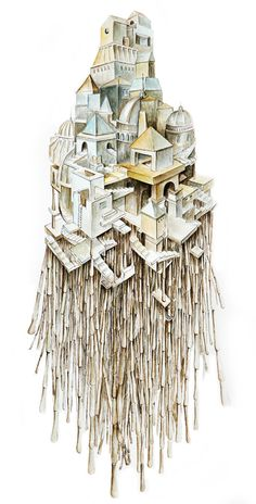 A series of paintings based on Calvino's Invisible Cities
