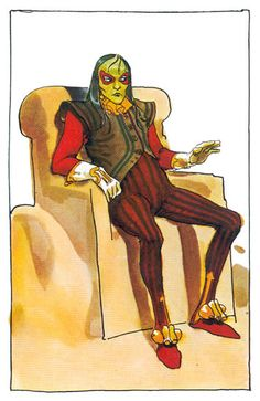 """Mentat Piter De Vries - Jean """"Moebius"""" Giraud character designs for Alexandro Jodorosky's Dune (70's)"""