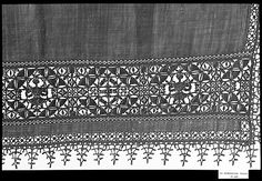 16th centuryCulture:Greek IslandsMedium:Linen, needle laceDimensions:L. 57 x W. 28 inches (144.8 x 71.1 cm)