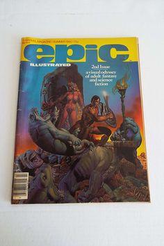 Vintage 1980 Epic Illustrated Comic Magazine 2nd Issue Sci-Fi Fantasy Richard Corben Cover by VintageBlackCatz on Etsy